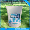 A - outdoor furniture round wicker chair and ottoman round lounger seater 4307