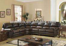 Large corner sofa made with top grain leather,high quality corner sofa,8 seat American chair (BF01-20057)