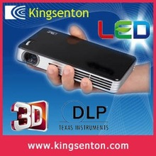DLP 0.45DMD touch key 600 ANSI lumens with battery back up portable real 3D full HD mini projector have trade assurance