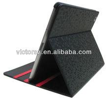 full body flip wallet Triple Diamond Grain Leather Stand Case for iPad 4