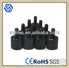Black Anodized Aluminum Thumb Screws, 6-32 Thread, For PC Case / Computer
