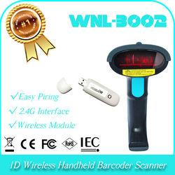 UPC identify Portable 1D Laser Wireless 2.4GHz Handheld QR bar code Barcode Reader Scanner decoder holder
