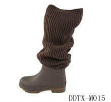DDTXLM015 Women's fashion rubber soft wellington boots