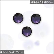 YHB MC hot fix rhinestone SS8 purple velvet