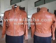 Ladies fashion Sheep Leather girls Jacket