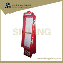 High quality key chain corrugated cardboard display stand with hooks