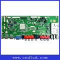 Led de gran tamaño- tv tamaño del tablero de soporte hdmi, av, pc-rgb, s- video, euroconector, usb, la televisión de señal de entrada