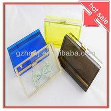 colorful acrylic transparent clutches,ladies evening bag party bag