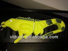Promotional cartoon customized soft PVC USB FLASH DRIVE 8G LIZARD SHAPE