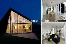 China hot sale luxury modern steel frame house prefabricated homes