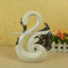 Fashion swan ceramic ornaments craft,popular home decoration