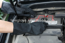 safety black rubber latex industrial gloves