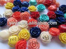 CB8066 Resin acrylic rose flower beads