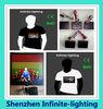 China custom flashing led t-shirt led panel t-shirt/led panel t-shirt for Christmas gifts