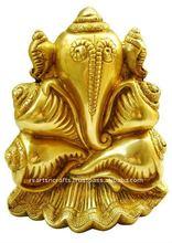 Ganesh Hindu God, brass ganesha