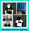 Party Supplier Led Light T-shirt/Design customized OEM led light t-shirt made in China/