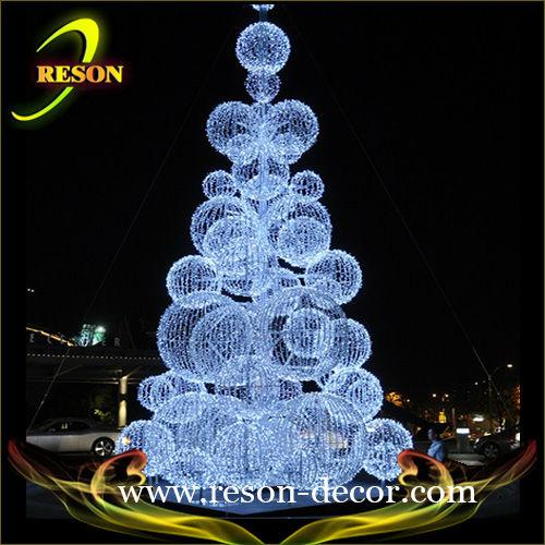 2013 white light ball tree church wedding decorations
