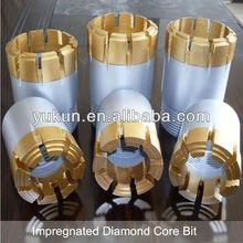 NQ HQ PQ AQ BQ impregnated diamond core bit