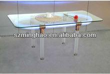 glass table top led acrylic table