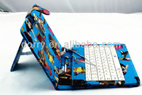 new arrival for tablet keyboard 7inch android keyboard for tablet pc with cartoon picture and newest design