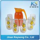 Color Glass Milk Jug