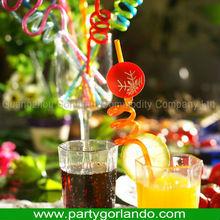 novelty crazy craft PVC funny decoration drinking straw
