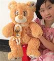 china ojos de dibujos animados oso con la bufanda del bordado kawaii juguetes de peluche