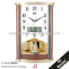 Pendulum and chiming clocks (ABS plastic material and 16 music hourly chime)