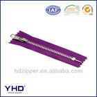metal purple black zipper luggage