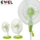 """9"""" 12"""" 16"""" table fan stand fan in white green color"""