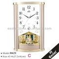 Clásica de cuarzo reloj de pared( material plástico abs y 16 música señal horaria)