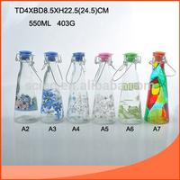 500ml wholesale new glass milk bottles sale