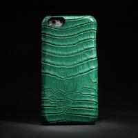 Luxury genuine crocodile leather skin case cover for apple .hiram beron for iphone6 genuine crocodole head leather case