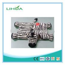Plush baby cushion zebra stuffed