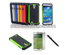 3 in 1 Dual Layer Hybrid PC +Silicone Case+a Screen Protector +Stylus Touch Screen Pen For Samsung Galaxy S4 i9500