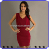 latest fashion dress women winter clothing elegant wine red fashion design beautiful sexy dresses for office wear