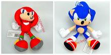 "Sonic the Hedgehog Knuckels+Sonic Plush Figure Doll Toy SEGA 7.8""/20CM"