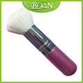 Brochas de maquillaje Kabuki pelo de nylon blanco con mango de madera rosa BQAN