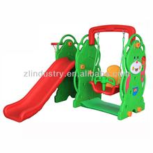 8007C Bear plastic swing and slide combination