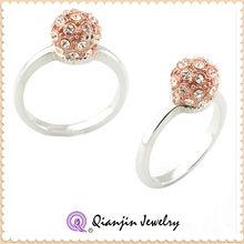 Individuality costume stone studded fashion jewelry wedding ring