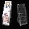3-tiers transparent regular custom acrylic dvd holder