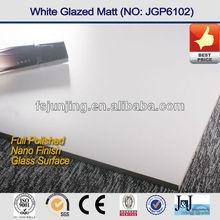 Non slip porcelain floor tiles pure white