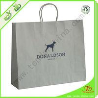 printed kraft paper bag or plain paper bag used as packaging bag
