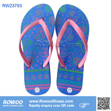 Ladies pretty cheap EVA blue flip flops