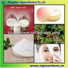 Skin Lightening Material Kojic Acid 501-30-4 With Factory Price