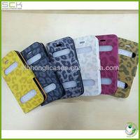 Fashionable Leopard Flip Leather Cover for IPhone 5 Leopard Flip Case