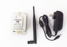 High quality 2.4Ghz 37dBm 802.11b/g 5W Wifi Signal Booster Broadband Amplifier with Antenna