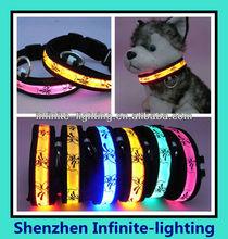 Fashionable led collar dog new style/dog collar and leash dog collar led