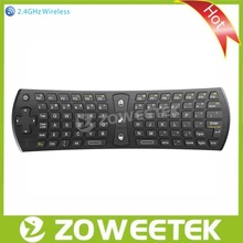 Wireless Gyro Air Mouse Remote Control with Keyboard for IPTV, Set Top Box