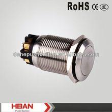CE ROHS 2014 19mm 1no1nc push button switch screw terminal